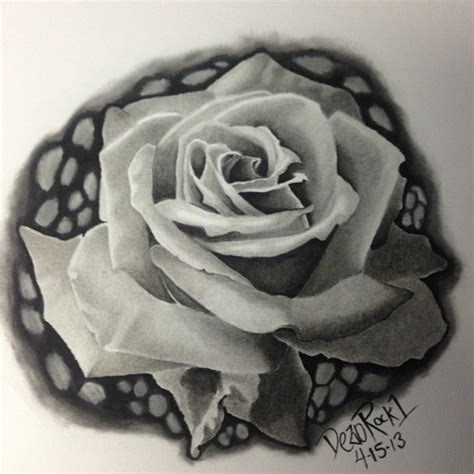 emma rose tattoo realistic black and grey search flowers