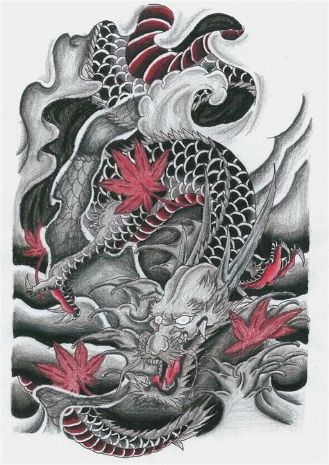 dragon flash tattoo designs japanese dragones orientales