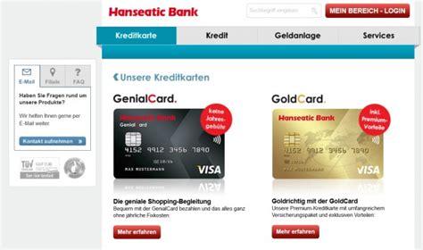 hanseatic bank banking kreditkarten test 04 2018 187 jetzt 23 karten vergleichen