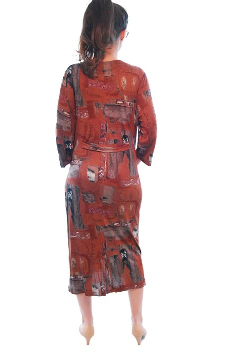 brick vintage dress for 1980s shpirulina