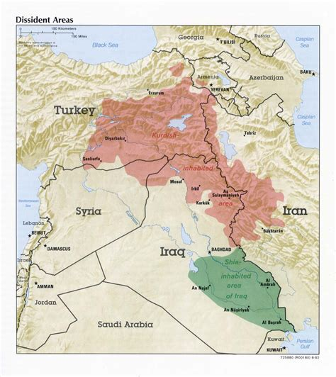 map of iraq and surrounding area kurdish population map history forum all empires page 2