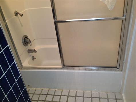 fiberglass bathtub enclosures colored glass block shower partition walls in a condo remodeling cleveland