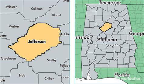 Jefferson Co Property Records Map Of Jefferson County Alabama Afputra