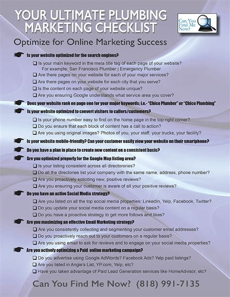 Plumbing Marketing by Thank You For Your Interest In Our Plumbing Marketing