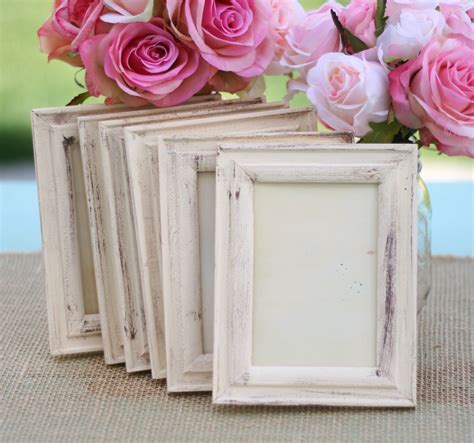 wedding frame shabby chic rustic distressed paint by braggingbags