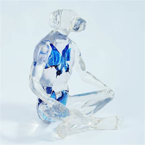 Sculpture Kettlebell 5kg Blue Limited lolly dogman rabbitgirl blue clear resin sculptures