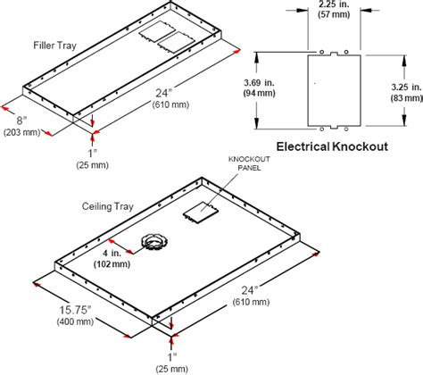 Ceiling Tile Dimensions by Peerless Cmj455 Lightweight Suspended Ceiling Plate For Projector