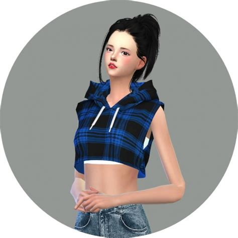 Crop Top Blouse Cc sims4 marigold sleeveless crop top sims 4 downloads