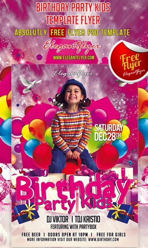 19 Birthday Flyers Psd Images Birthday Party Flyer Templates Free Party Flyer Design Birthday Flyer Templates Free