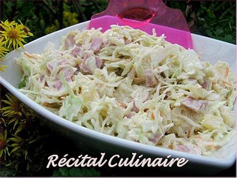 s駱aration vitr馥 cuisine salade de chou au jambon et 224 l ananas paperblog