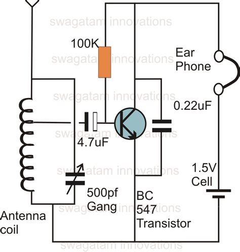 single transistor fm transmitter circuit diagram single transistor radio receiver circuit