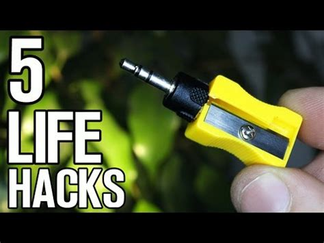 simple life hack how to ask for what you need spiral up 5 simple life hacks for sharpener youtube