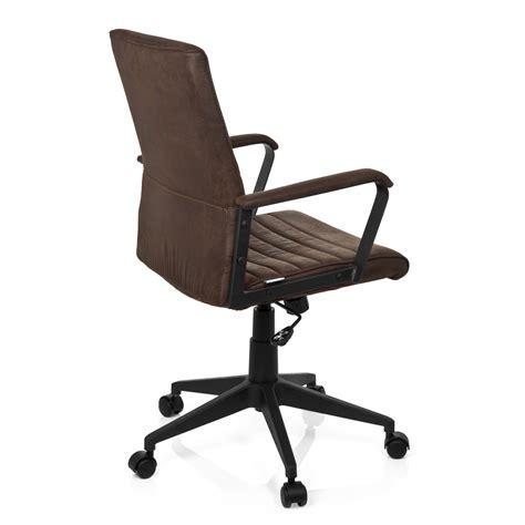 sedie vintage sedia da ufficio tavira stile vintage in pelle marrone