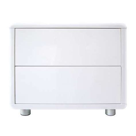 White Gloss Bedside Drawers by Soho White Gloss 2 Drawer Bedside Table Dunelm