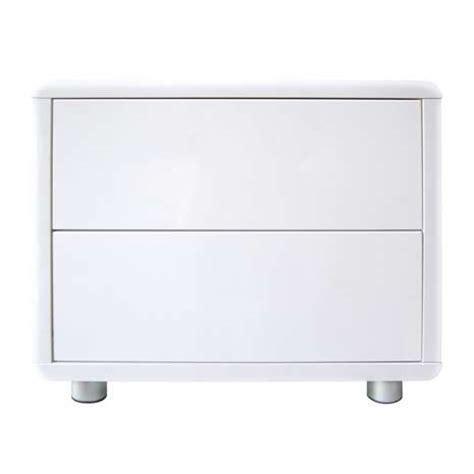White 2 Drawer Bedside Table soho white gloss 2 drawer bedside table dunelm