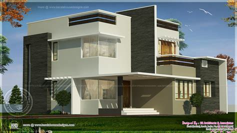 Box House Plans by 1800 Square Box Type Exterior Home Kerala Home