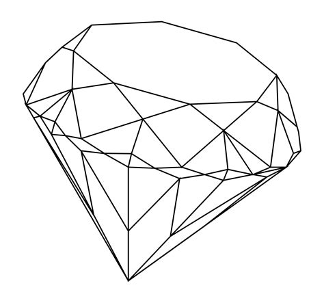 Gem Outline by Line Drawing Search Line Search And Drawings