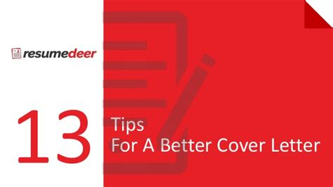Better Cover Letter by 13tips For A Better Cover Letter Ppt New