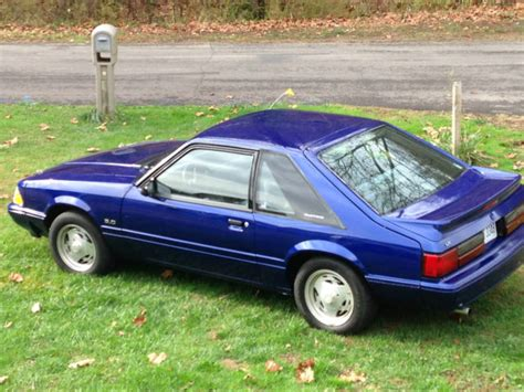 89 Mustang Auto Transmission by No Reserve Auto Sonic Blue Hatchback 2 Door 5 0 Ho