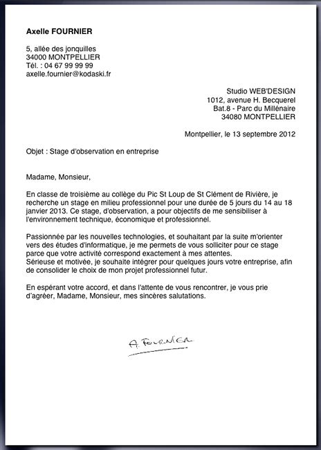 Exemple De Lettre De Motivation ã Tudiant Supermarchã Exemple D Une Lettre De Motivation Pour Un Stage