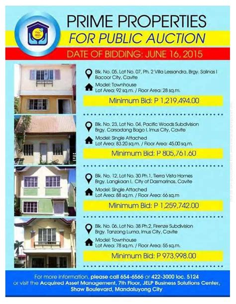 pag ibig housing loan acquired assets pag ibig foreclosed properties in cavite auction june 16