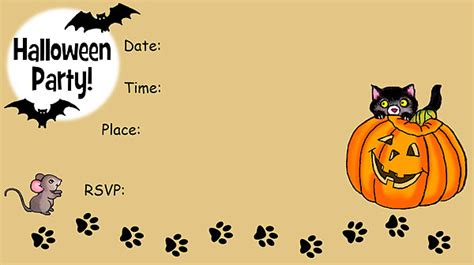 Halloween Gift Card Template - halloween invitation cards free printable festival collections