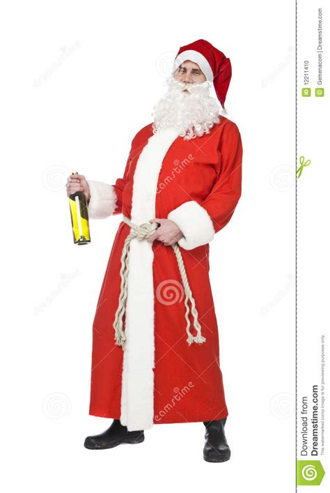 imagenes de santa claus tomando santa claus drinking wine stock photo image of costume