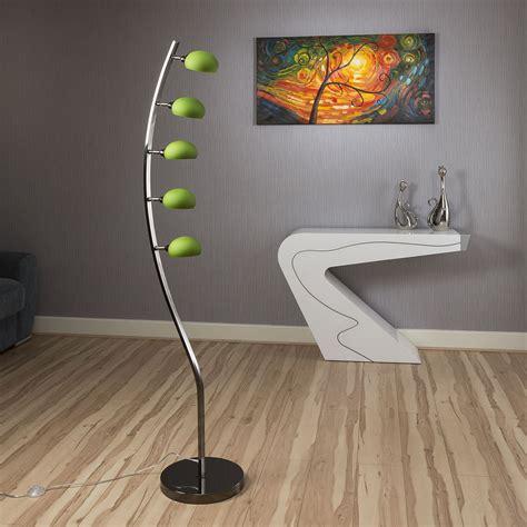 standard l shades modern modern floor standard l light lighting 5 green glass