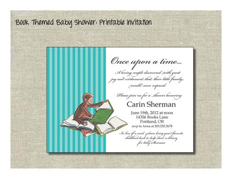 Book Quotes Baby Shower Quotesgram Book Invitations Template