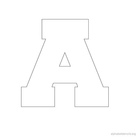 printable a z stencils free a z alphabet stencils to print for kids alphabet