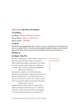 Edgar Allan Poe S The Worksheet Answers