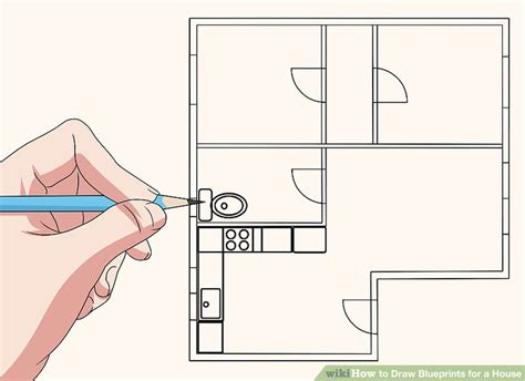 draw house blueprints how to draw blueprints for a house 9 steps with pictures