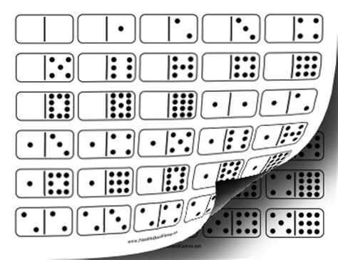 printable domino cards printable domino double twelve set