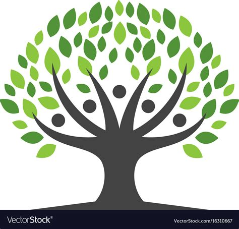 Family Tree Logo Template Icon Design Royalty Free Vector Family Tree Template Modern Flat Style Stock Vector 405185863