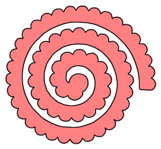 rolled paper roses template paper this and that two rolled flower svg files