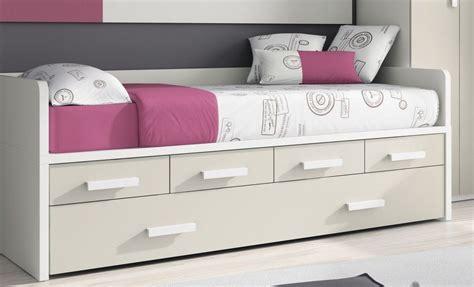 cama de 90 con cajones camas compactas con cama nido randa cama nido con cajones