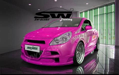 opel pink opel corsa d frontsto 223 stange 06 10 sw design mit