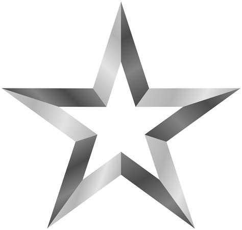 silver stars silver star clipart free clipart