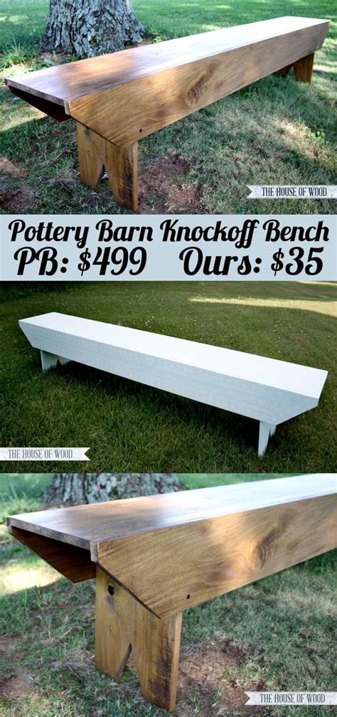 pottery barn tool bench diy pottery barn inspired bench front porches dinning