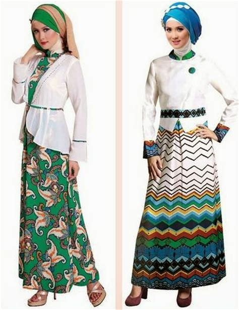 desain gamis casual 20 contoh desain baju muslim gamis brokat terbaru 2017
