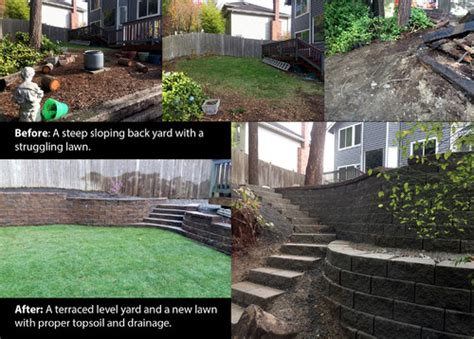 how to level your backyard landscape level a severely sloped yard