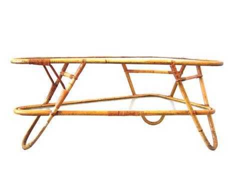 retro design rotan coffee table