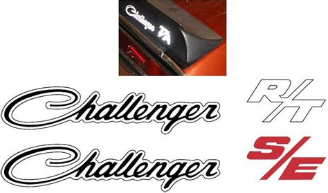 dodge challenger rt decals dodge challenger r t s e rear custom lettering decal