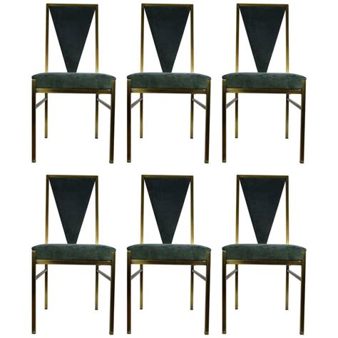Belgo Chrome Set Of Six Dining Chairs At 1stdibs Chrome Dining Room Chairs