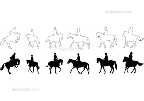 horse dwg pictures free download horse and rider dwg free cad blocks download