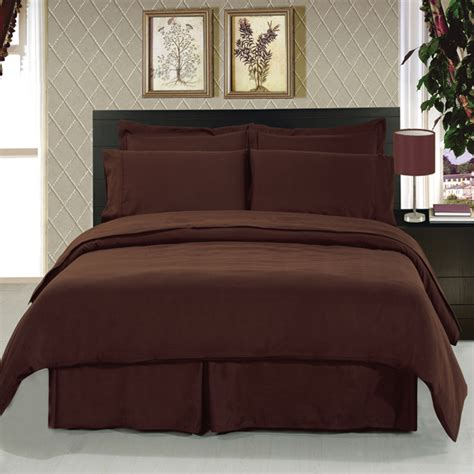 solid brown comforter sets solid chocolate 8 piece soft microfiber bedding set