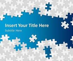 Free Puzzle Pieces Powerpoint Template Free Powerpoint Templates Slidehunter Com Powerpoint Template Puzzle Pieces Free