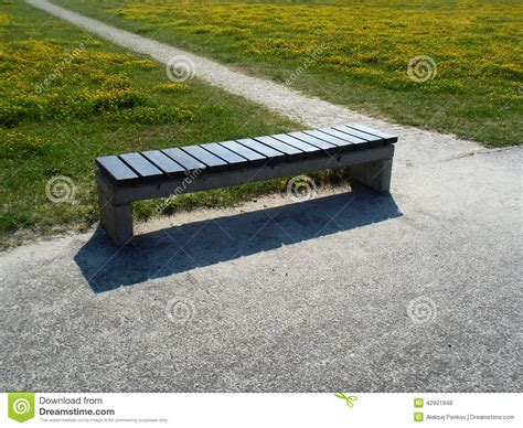 bench and field the bench stock photo image 42901848