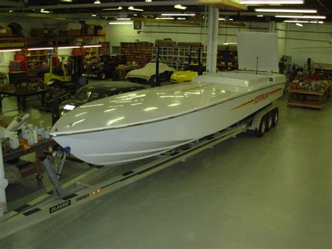 42 boat trailer for sale sutphen 38 project boat hull and new 42 ft aluminum