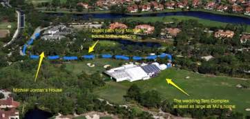2200 Square Foot House by Michael Jordan Pitches 40 000 Sq Ft Wedding Tent On Jack